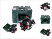 Metabo KS 18 LTX 57 Akku Handkreissäge 18 V 165 mm + 2x Akku 4,0 Ah + Ladegerät + MetaLoc