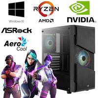 Gaming PC - AMD Ryzen 5 3600 6 Core 4,2GHz - 16GB RAM - 512GB SSD - NVIDIA GT 1030 - Gamer -  RGB AeroCool Gehäuse