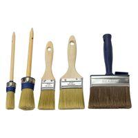 Malerpinsel Pinsel Flachpinsel Rundpinsel Lackpinsel Set Mix Pinselset 5-tlg.
