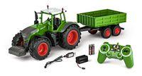 Carson 1:16 RC Traktor mit Anhänger 100% RTR, LED Beleuchtung, Motor- und Fahrsound, ferngesteuerter Traktor, 500907314