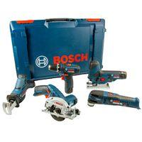 Bosch Professional Set: GSR 12V-15, GST 12V-70, GOP 12V-28, GKS 12V-26, GSA 12V-14, 3x Akku, XL-BOXX