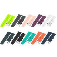 10X 22mm Silikon Armband Ersatz Armband mit Schnalle Armband für HUAWEI WATCH GT 2 46mm / HONOR MagicWatch 2 46mm / HONOR MagicWatch,Orange&Weiß&Dunkelgrün&Schwarz&Blau&Grau&Grün&Dunkelblau&Lila&Pink