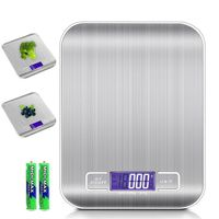 Digitale Küchenwaage 5kg Elektronische Waage für die Küche mit Tara Funktion und LCD-Display SILBER