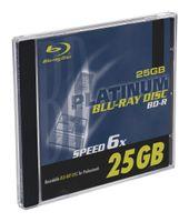 Platinum 25GB BD-R Blu-ray Rohlinge (6x Speed) im 1er Jewel Case 100450