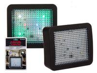 2 Stück LED TV Simulator Attrappe Einbruchschutz Bildschirm Imitator Fake Fernseher Dummy Set