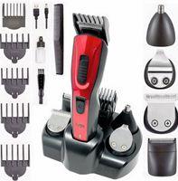 Professionelle Haarschneidemaschine Haarschneider Set 11in1 Bartschneider Ohr & Nasentrimmer Rasierer, Farbe: Rot