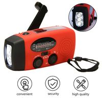Solarradio Radio, Multifunktionale Outdoor-Notkurbel LED-Taschenlampe Mobile Power FM / AM-Notfunkgerät zum Wandern und Campen im Freien