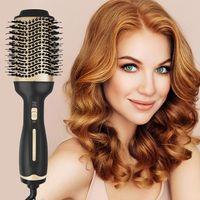 Haartrockner Warmluftbürste, Ionen Technologie Heißluftbürste Rotierend Keramik 5 in 1 Hair Dryer Styling Brush Heißluftkamm Warmluftbürste Haartrockner
