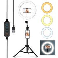 160cm Ringlicht Stativ 16cm Dimmbare LED Ringlicht Fotostudio Selfie Lampe & Ständer für Makeup Kamera