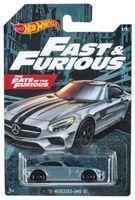 Hot Wheels Fast & Furious auto Mercedes 6,8 cm silber