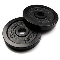 HAMMER  Hantelscheiben Gewichtsscheiben 2x 2.5 kg - schwarz