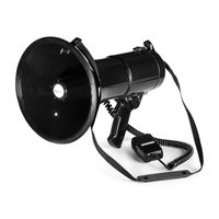 auna MEGA080 Megaphon 80W , Reichweite 700m , wasserfest , Tragegurt , schwarz