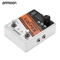 Ammoon STEREO LOOPER Loop Record Gitarreneffektpedal 10 Unabhaengige Schleifen Max. 10min Aufnahmezeit fuer jede Schleife Unbegrenzt Overdubbing