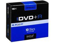 Intenso DVD+R 4,7 GB 16x Speed - 10stk Slim Case