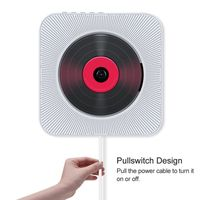 KC-808 CD-Player an der Wand Bluetooth-Lautsprecher Home Audio, unterstützt CD / Bluetooth / FM-Radio / AUX-Eingang / U-Disk, Farbe: weiß