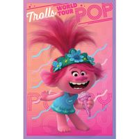 Trolls - Poster World Tour, Mohnblume TA6057 (Einheitsgröße) (Pink/Türkis)