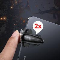 Baseus PUBG Gamepad Spiel Controller Zielauslöser Extra Schaltfläche Bumper für Tablet iPad für Spieler Gamer Zocker Fortnite in Schwarz