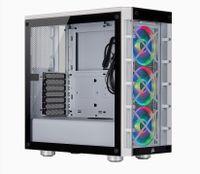 Corsair Mid-Tower ATX Smart Case iCUE 465X RGB Seitenfenster, Mid-Tower, Weiß, Netzteil im Lieferumfang enthalten Nein, Stahl, Tempered Glass