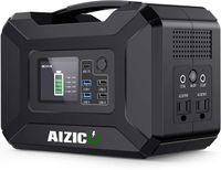 AIZICO Tragbare 300W Power Station Batterie Kapazität 296Wh 80000mAh Solar Generator 110V/220V Spitzen 500W