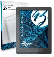 Bruni Basics-Clear 2x Schutzfolie kompatibel mit Kobo Aura H2O Edition 2 Folie