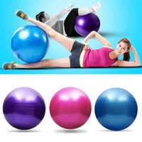Gymnastikball Anti-Burst Sport Balance Yoga Ball mit Pumpe für Pilates Geburt Fitness Gym Workout Training Physiotherapie Fitness Yoga Ball 25cm,Rosa