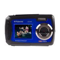 Digitalkamera Polaroid iE090 18 Mio. Pixel Schwarz/Blau Unterwasserkamera