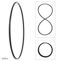 Faltbarer Hula Hoop, PE-20mm, Schwarz, Ø100 cm