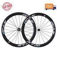 ICAN Carbon Laufradsatz 50mm 700C  Laufräder Rennrad Drahtreifen Felge Shimano 10/11 Speed 1510g (Classic Laufradsatz)
