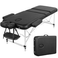 Yaheetech Massageliege mobile 3 Zonen Massagetisch Massagebank Massagebett Kosmetikliege Aluminiumfüße bis 250kg belastbar 70cm Breite