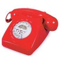 Geemarc Mayfair schnurgebundenes Nostalgietelefon mit Retrodesign und klassischen Klingelton - Rot -