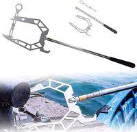 Teleskop-Bootshaken 40cm-1,4m U-förmigem Bootshaken Edelstahl Mehrzweck-Dockhaken für zu Hause und im Freien(B)