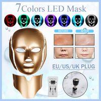 7 Farben LED Photon Hautverjüngung Lichttherapie Anti Falten Photodynamik+Hals