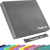 MOVIT® Balance Pad Sitzkissen grau mit Gymnastikband