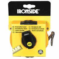 Ironside 150-220 Stahlmaßband 20 m/ 13mm 2-Komponenten Gehäuse, gelb/schwarz
