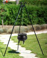 CookKing 121450 Dreibein Schwenkgrill 180cm mit Afrikanischer Gusseisenkessel 6 l