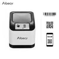 Aibecy 2200 1D / 2D / QR Barcode Scanner CMOS Bild Desktop Strichcode Leser USB Strichcode-Scanner mit omnidirektionalem Bildschirm