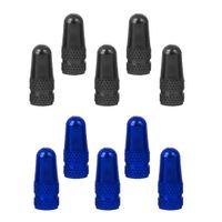 10 Stücke Presta Luft Ventilkappen fahrradventil kappe Staubschutz- schwarz Blau
