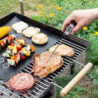 kwmobile Digitales Fleischthermometer Koch Thermometer - für BBQ Fleisch Grill Milch Wasser - Bratenthermometer Einstichthermometer Messgerät