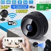 Mini Kamera Überwachungskamera HD 1080P Wireless Wifi IP Kamera mit Bewegungsmelder/Mikrofon/Videoaufzeichnung 32G