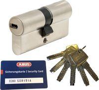 ABUS EC660 Doppelzylinder Länge (a/b) 28/34mm (c=62mm) mit Sicherungskarte und 6 Schlüssel, Not-u. Gefahrenfunktion und SKG** Bohrschutz