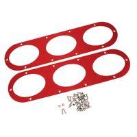 2pcs Aluminiumlegierung Auto Heckstoßstange Race Air Diffusor Panel, Hohe Qualität Farbe rot