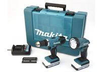 MAKITA Akku-Bohrschrauber DF457DWLX1 Set 18V, 2 Akkus 1,3Ah
