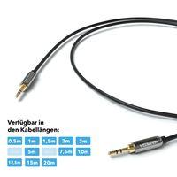 JAMEGA - 1m Aux Kabel | Stereo Audio Klinkenkabel 3,5mm Klinkenstecker auf 3,5mm Klinkenstecker kompatibel mit Kopfhörer, Echo Dot, MP3, Heim/Auto Stereoanlagen, iPhone, iPad, Smartphone uvm.