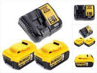 Dewalt DCB 113 P2 Akku Starter Set 18V mit 2x DCB184 Akku 5,0Ah + Ladegerät