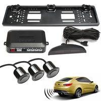 Universal Auto Kennzeichenhalter mit 3 Parksensoren Einparkhilfe System Kit DE