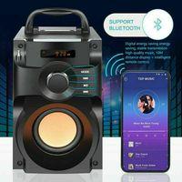 Topchances Bluetooth Lautsprecher 10W Rragbarer Subwoofer FM Radio Stereo Außen Innenparty
