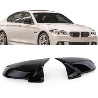 Spiegelkappen Sport Schwarz Glanz zum Austausch für BMW 5er F07 F10 F11 F18 7er