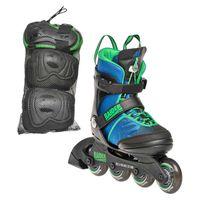 K2 Jungen Inlineskates Raider Pro Pack blau-grün 35