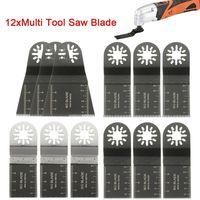 12 STÜCKE Mix Sägeblätter Lange Zähne Oszillierende Werkzeug Multitool Set Werkzeug für Fein Makita  (Größe: 35mm / 65mm)