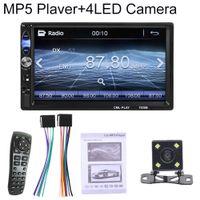 Auto 2Din Bluetooth Freisprecheinrichtung FM USB USB-Spiegelverbindung Umkehrbild MP5-Player - mit 4-LED-Rückfahrkamera